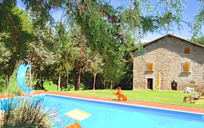 Two Farmhouses with a Pool and 10.5 Hectares near Anghiari