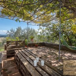 Hilltop Farmhouse Property with Olives near Montepulciano 11