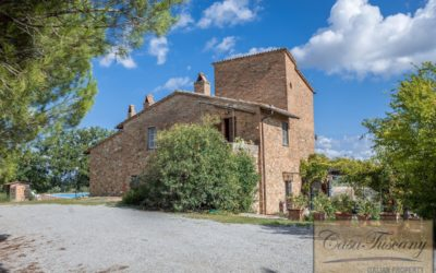Hilltop Farmhouse with Olives near Montepulciano